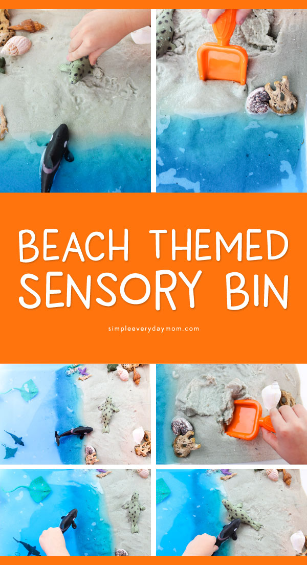 Under The Sea Preschool Sensory Bin | Kids will have a blast while they learn about ocean animals with this beach sensory table. #elementary #sensorybins #earlychildhood #activitiesforkids