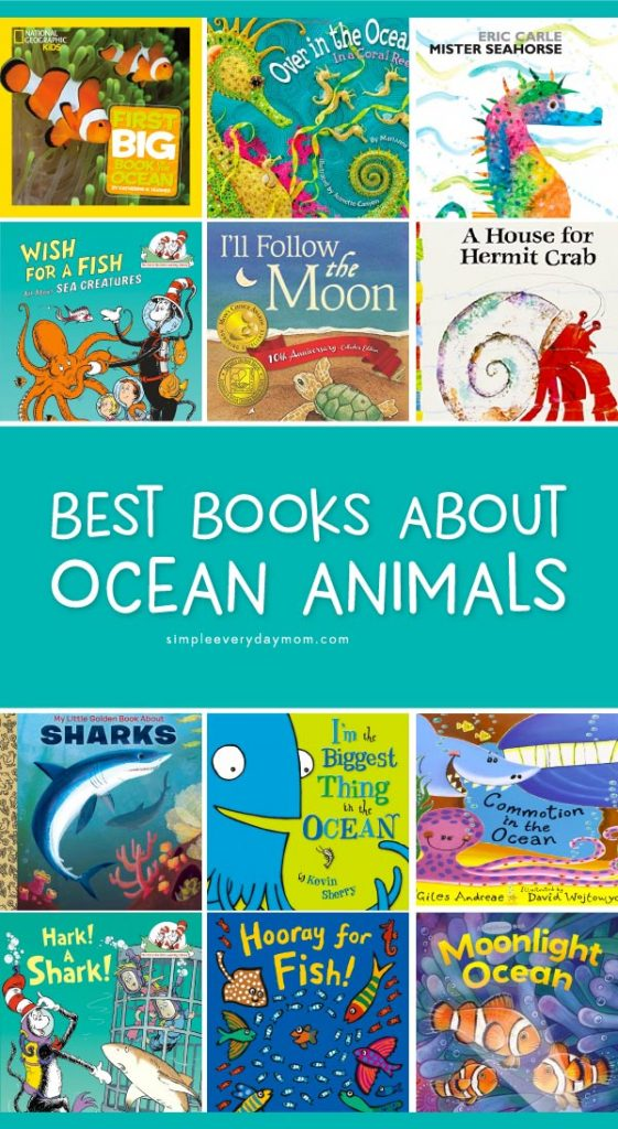 Best Books About Ocean Animals For Kids   Kids of all ages from toddlers, to preschool, to kindergarten and beyond will love learning about sea creatures and their ocean home with these fun ocean books. They're perfect for homeschool or classroom ocean unit studies. #homeschool #earlychildhood #ocean #childrensbooks #educationalactivities #kidsandparenting