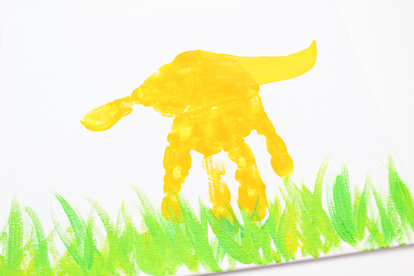 Easy DIY dinosaur art for kids