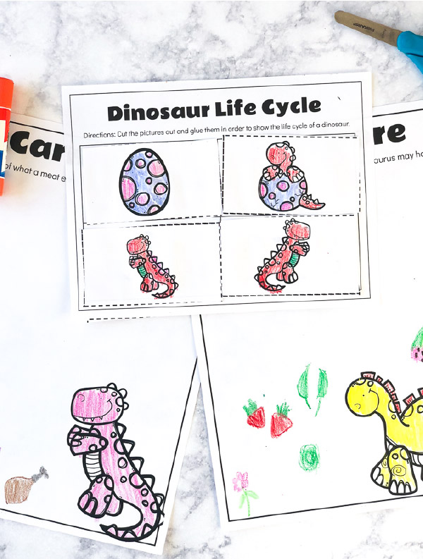 Free Dinosaur Preschool Printables That Are Fun & Educational