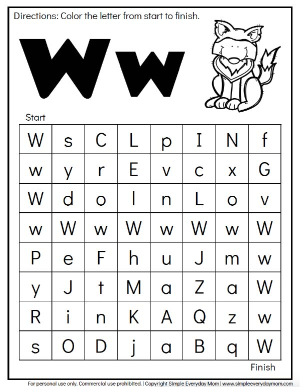 Free Printable Forest Animal Alphabet Maze | These learning worksheets are a fun and easy way to reinforce letter recognition for preschoolers. #preschool #kindergarten #earlychildhood #educationalactivities #learningactivities #kidsactivities #teaching