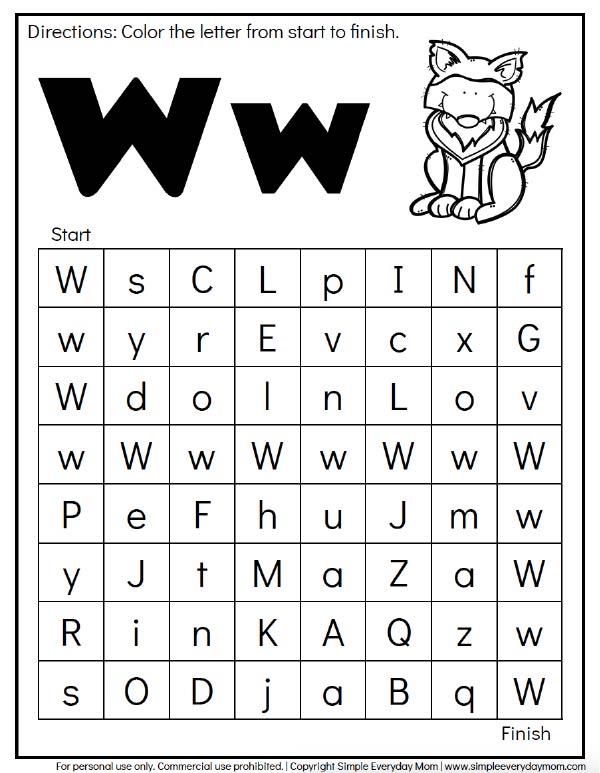 FREE Animal Alphabet Worksheets For Preschool & Kindergarten