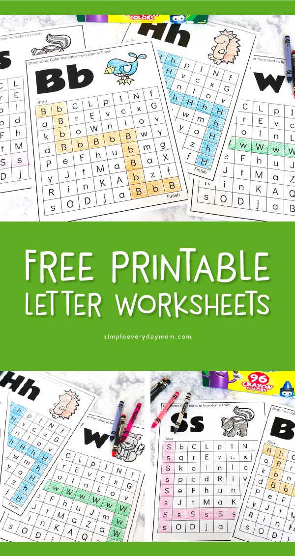 Free Printable Forest Animal Worksheets | Kids will love using these fun learning printables to find their way through these ABC mazes. #homeschooling #preschool #teacher #teachingkindergarten #coloringpages #educationalactivities #learningactivities