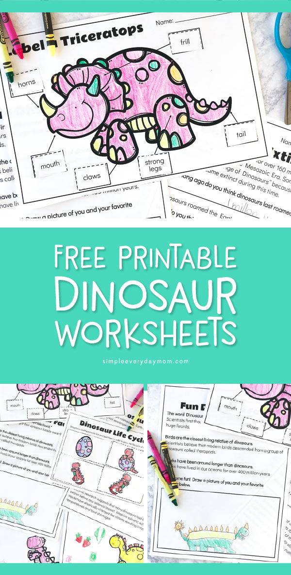 free dinosaur preschool printables that are fun educational. Black Bedroom Furniture Sets. Home Design Ideas