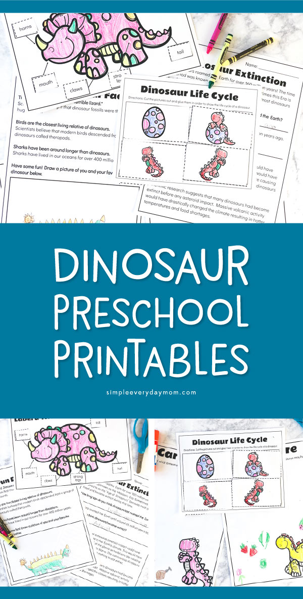 Free Printable Dinosaur Worksheets For Kids | These fun dino printables are a great supplement for lesson plans and students will have fun doing them! 