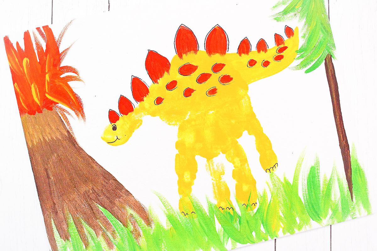 Dinosaur Handprint Art Activity For Preschool & Kindergarten