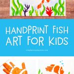 Handprint Fish Craft | Kids will love making this handprint keepsake for grandma or grandpa this summertime. It's a great boredom buster too! #artforkids #kidscrafts #craftsforkids #kidsactivities #ideasforkids #kidsandparenting