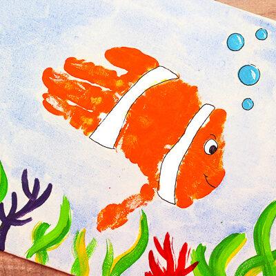 Ocean Art For Kids Idea