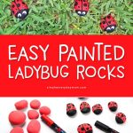 Ladybug Rocks For Kids | Create these easy DIY ladybug stones and get your kids creativity flowing! #kidscrafts #craftsforkids #kidsactivities #kidsanadparenting #artforkids