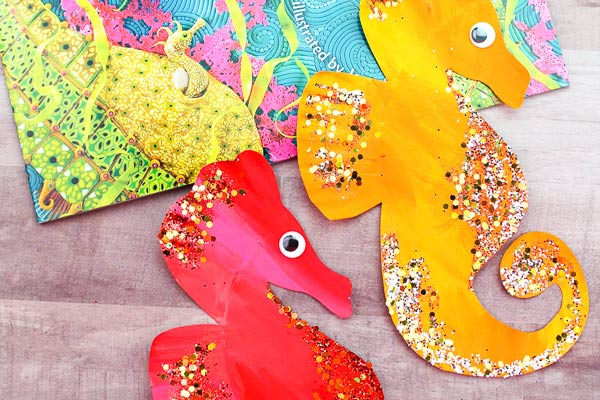Paper Plate Seahorse Craft For Ocean Theme Units