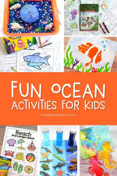 Ocean Activities For Kids   Have a blast with these under the sea themed activities for preschool, kindergarten and young elementary kids. There are crafts, stem activities, free printables, sensory bins and more! #stem #kidsactivities #earlychildhood #kidsandparenting #ocean #kids #childrenplay