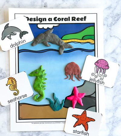 Free Printable Ocean Play Doh Mats   Kids have fun with this hands on sensory activity. #sensoryplay #ideasforkids