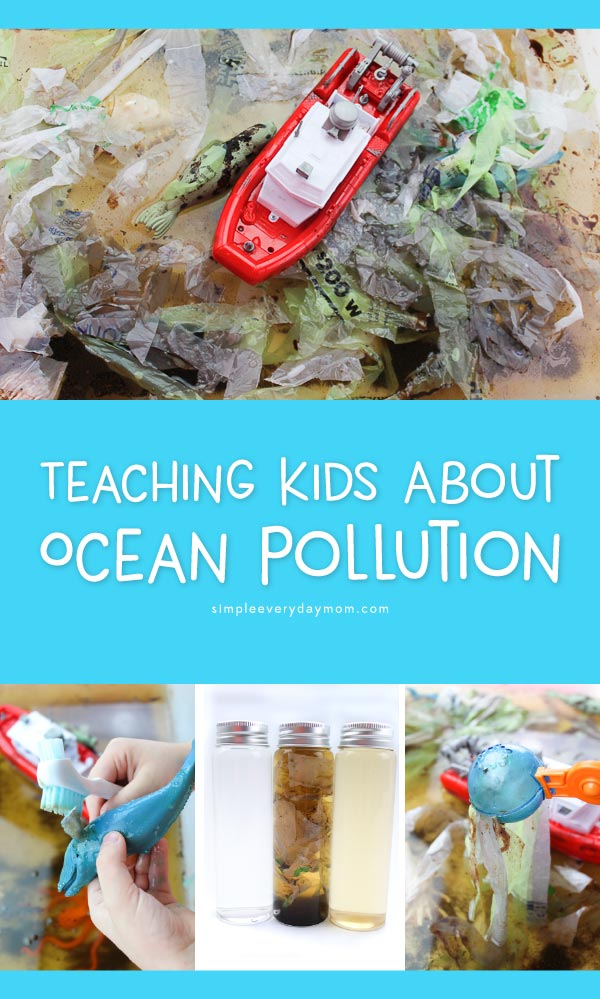 Ocean Pollution Activity For Kids | Teach children the devastating effects of pollution on the marine ecosystem with this hands-on pollution sensory bin. #earlychildhood #learningactivites #educationalactivities #ideasforkids