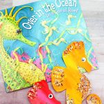 Seahorse Craft For Kids | Preschool and kindergarten children will love this creative and easy paper plate seahorse craft. This DIY project is great for ocean theme studies and comes with a free printable template! #kidsandparenting #kidscrafts #kidsactivities #preschooler
