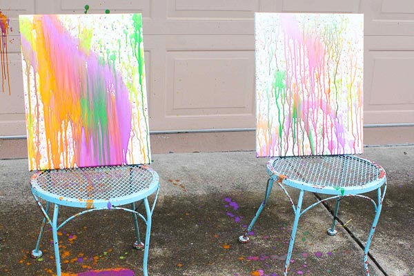 splatter painting for kids