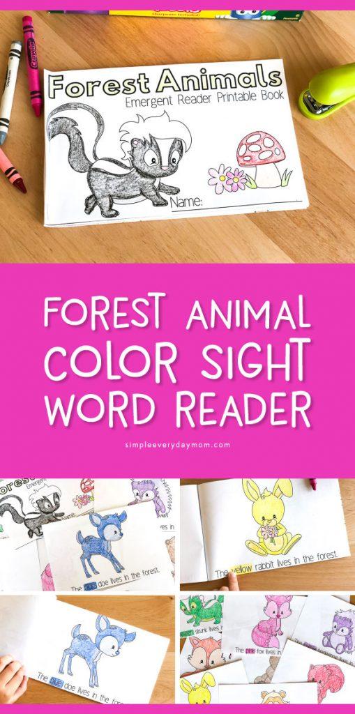 animal sight word readers