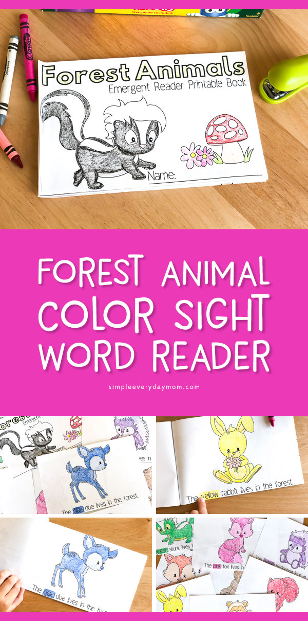 Free Printable Sight Word Readers | This fun coloring page emergent readers book is great for learning colors and makes it perfect for homeschooling or classroom use. 