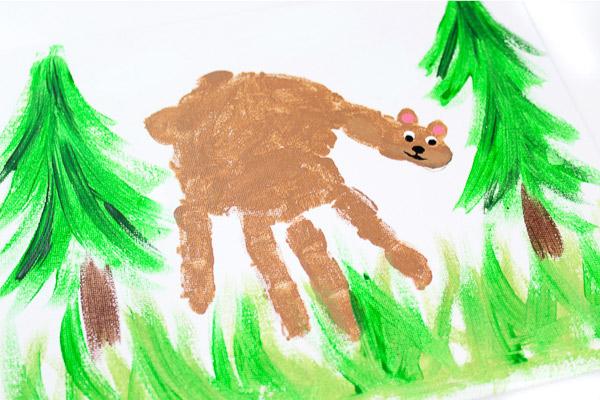 bear art handprint