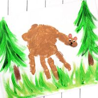 Handprint Bear Art Project