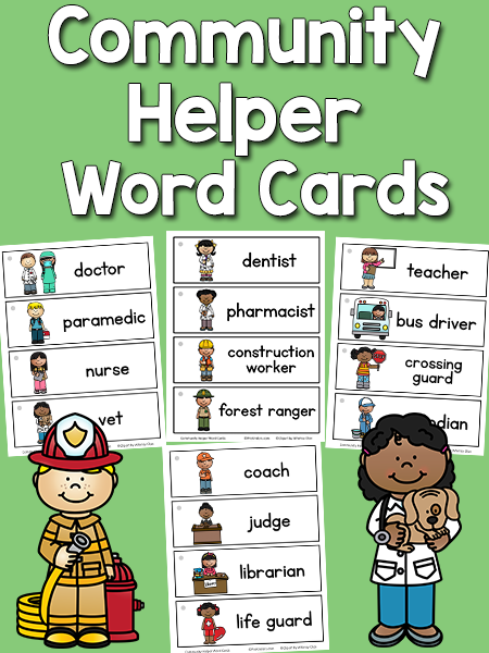 Community helper printables for kids