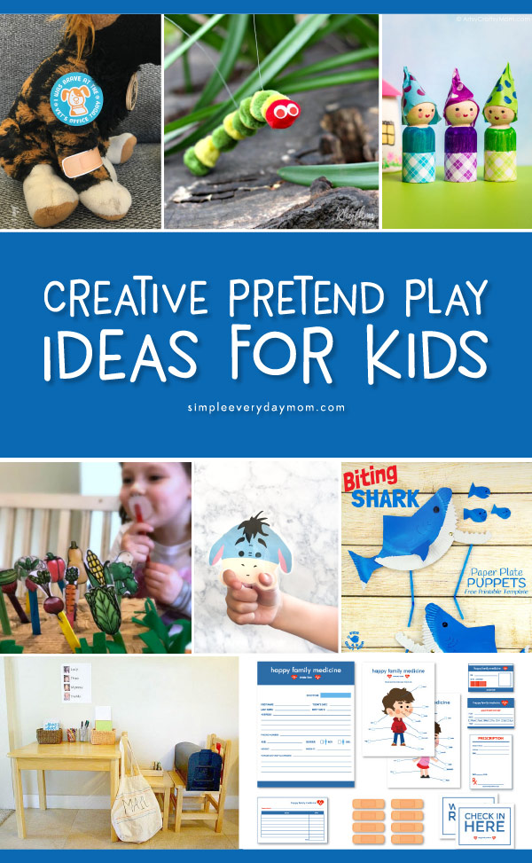 Pretend Play Ideas For Kids   Find printables, DIYs, crafts and more for toddler, preschool and kindergarten kids. #pretendplay #childrenplay #kidsandparenting #kidsactivities #kidscrafts #ideasforkids #preschool