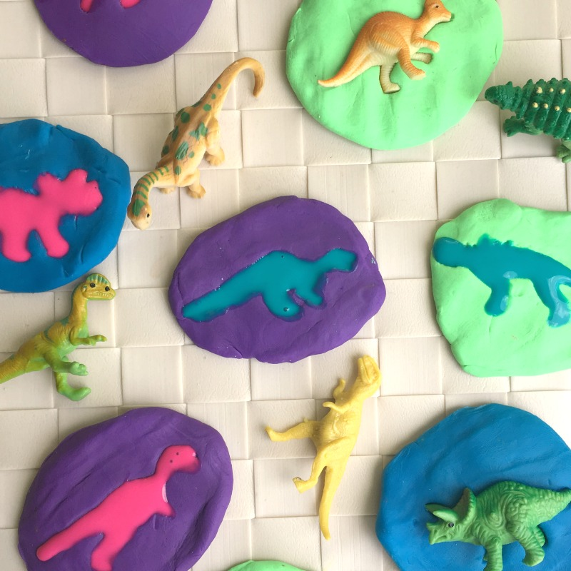 Preschool dinosaur art