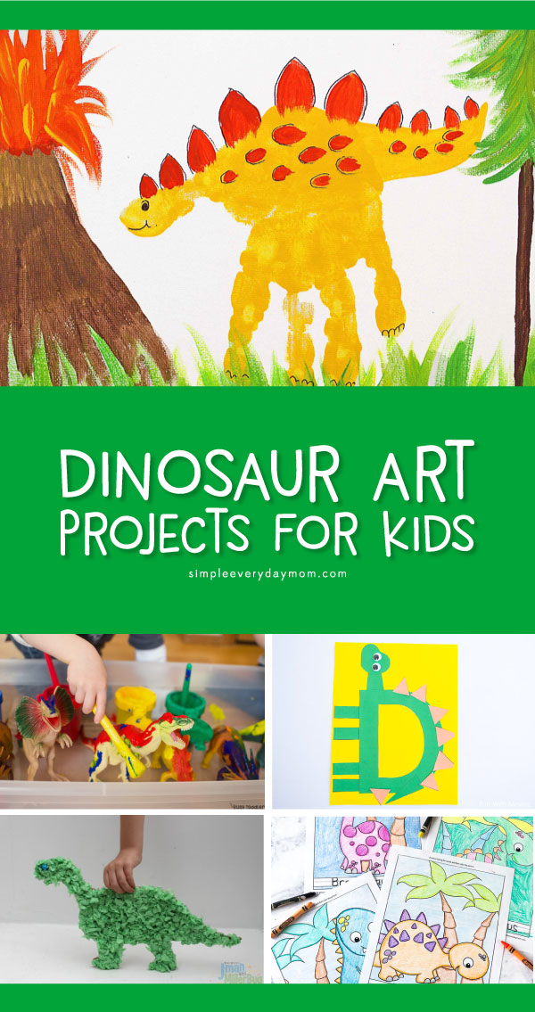 Dinosaur Art Projects For Kids | Kids in preschool and kindergarten will have fun making these dinosaur art and crafts. #dinosaurs #artforkids #kidsart #craftsforkids #kidscrafts #preschool #kindergarten #kidsactivities #kidsandparenting