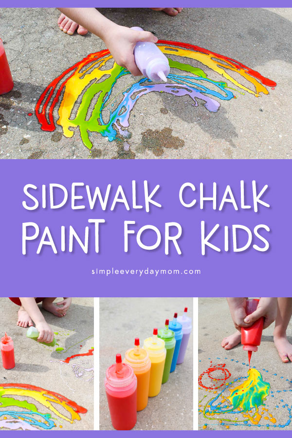 DIY Chalk Paint For Kids | Let your kids have some messy play time outside with this fun homemade chalk paint