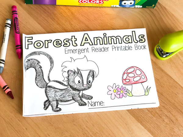 forest animals emergent readers book