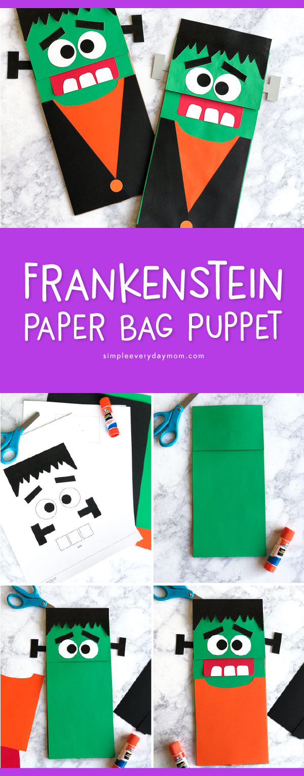 frankenstein halloween craft for kids