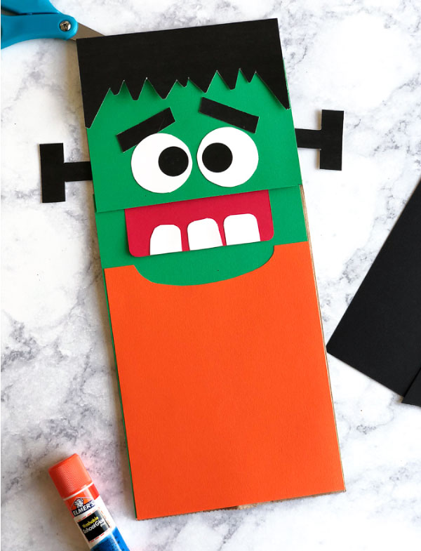 Frankenstein craft for kids #halloween #halloweenforkids #kidscrafts