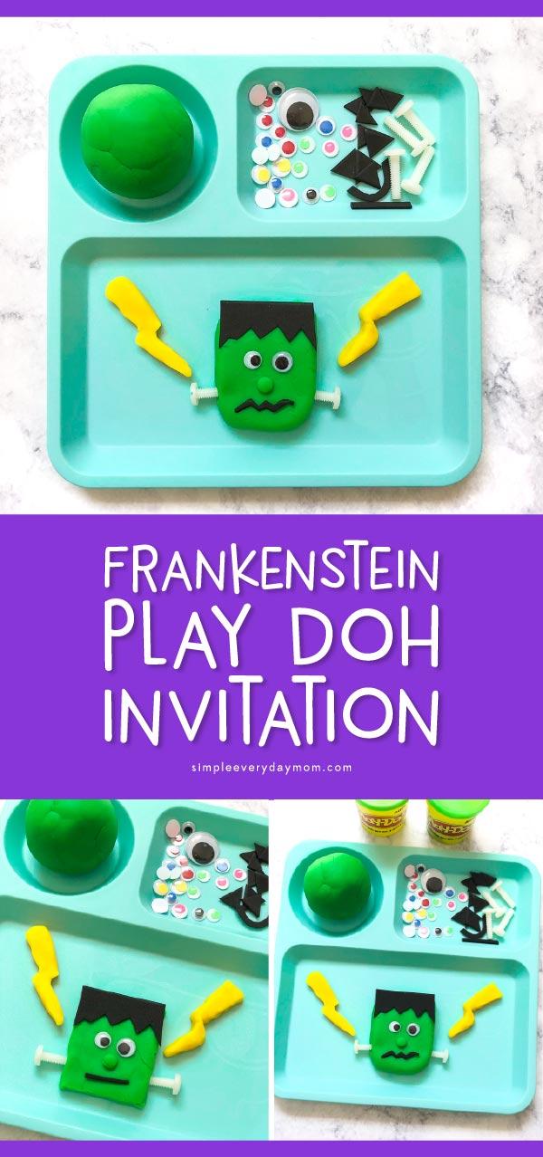Halloween Play Dough Invitation To Play | This fun Halloween activity for kids is an easy sensory play idea to celebrate fall! #halloween #kidsactivities #sensoryplay #playdough #playdoh #kidsandparenting #preschool #kindergarten