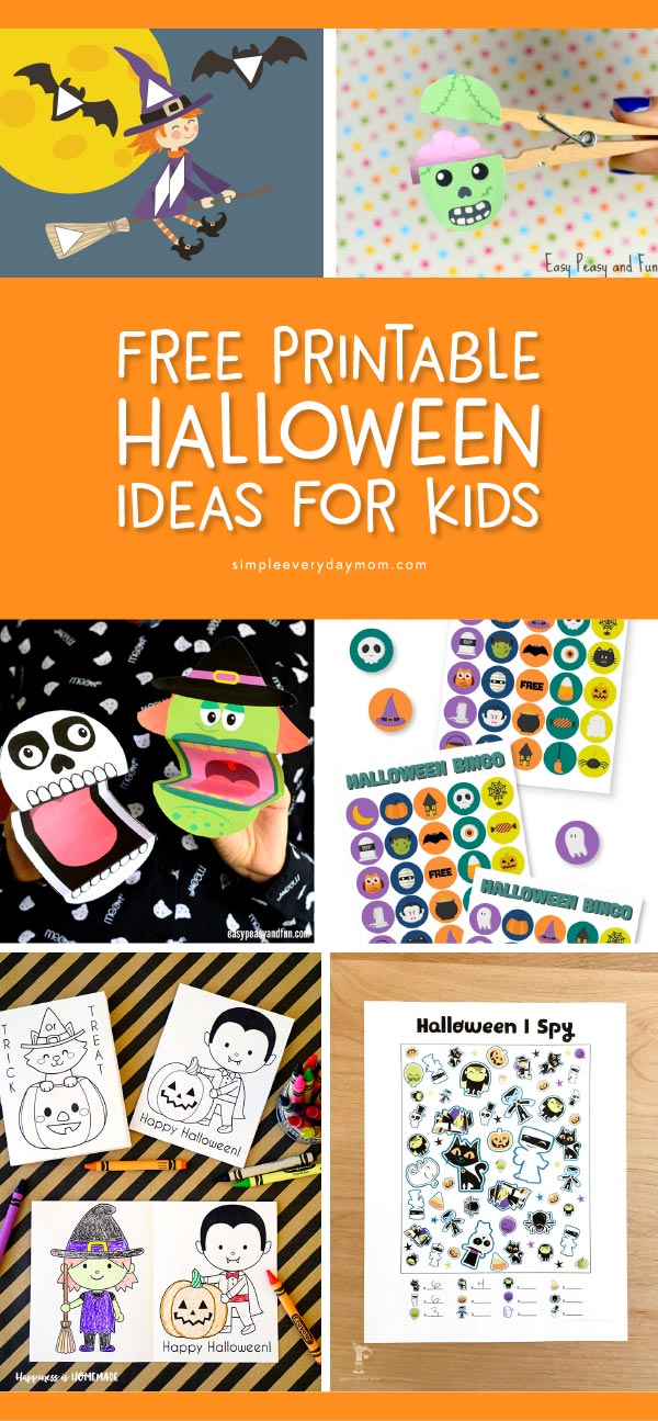 Free Halloween Printables For Kids | Check out this fun collection of halloween activities, coloring sheets, learning actvities, scavenger hunts and more! #kidsactivities #halloween #kidsandparenting #ideasforkids #childrenplay #printables