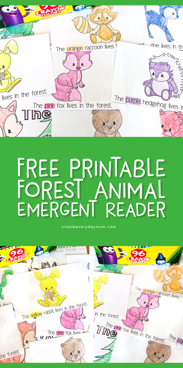 picture about Sight Word Book Printable called Totally free Printable Forest Animal Emergent People Ebook