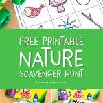 free printable nature scavenger hunt list