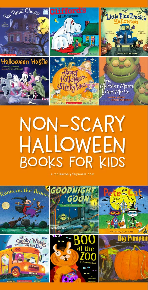 Halloween Books For Kids | Toddlers, preschool and kindergarten kids will love these non scary Halloween books. #preschool #kindergarten #toddler #halloween #childrensbooks #kidsactivities #kidsandparenting
