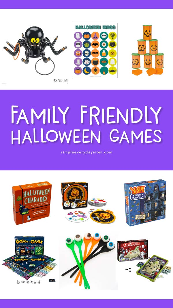 Halloween Games For Children | Kids will have a blast playing these Halloween activities that are perfect for family game night or for Halloween classroom parties! #halloween #kidsactivities #kidsandparenting #ideasforkids #earlychildhood