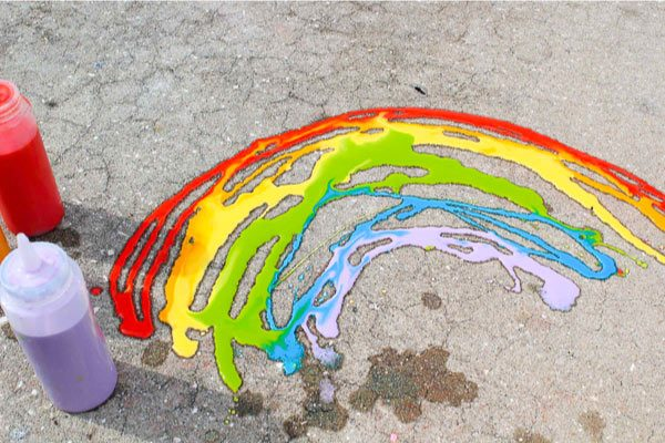 homemade sidewalk paint for kids