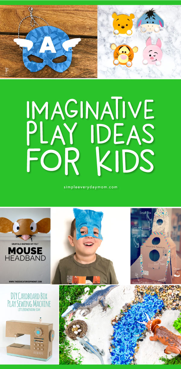 Pretend Play Ideas For Kids | These imaginative play ideas are perfect for preschool and kindergarten and include ideas like pretend play doctors, post office, vets office, dress up, sensory bins and more!  #sensoryplay #creative #kids #kidsactivities #earlychildhood #preschool #kindergarten #craftsforkids #dramaticplay #creativeplay #childrenplay #toddlers