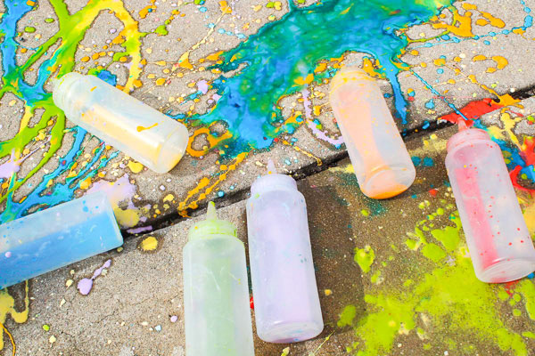 Sidewalk Chalk Recipe for kids