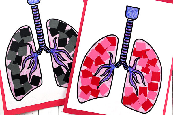 lung craft for kids