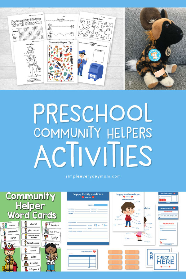 community helpers preschool activities | Kids in preschool and kindergarten will have fun with these community helpers activities that include worksheets, dramatic play printables, crafts and more! #earlychildhood #homeschool #kidsactivities #preschool