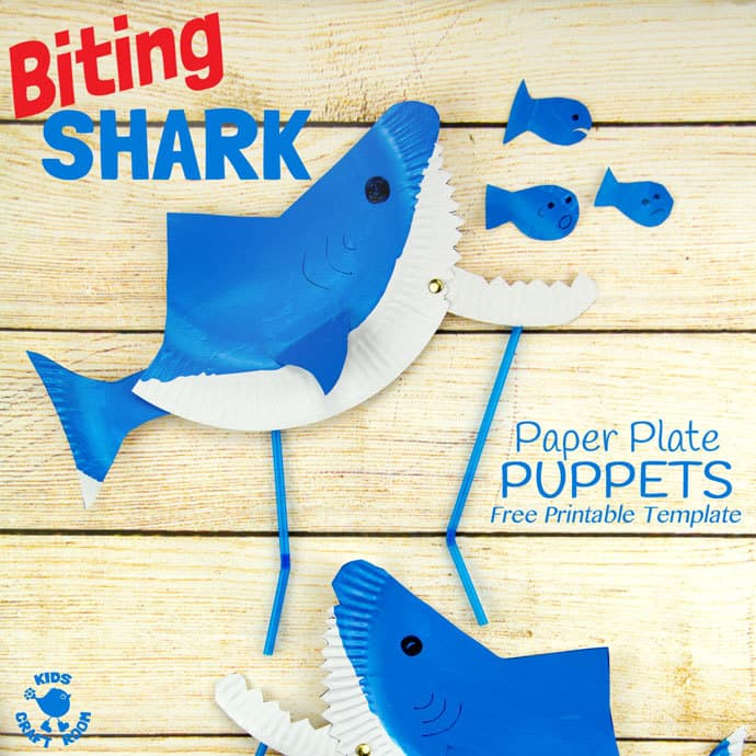 Pretend Play Shark Puppet #childrenplay #kidsactivities #imagination #dramaticplay