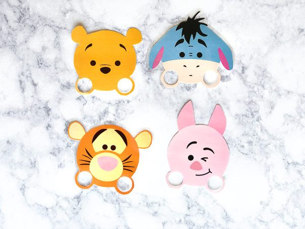 pooh, eeyore, tigger and piglet printable finger puppets