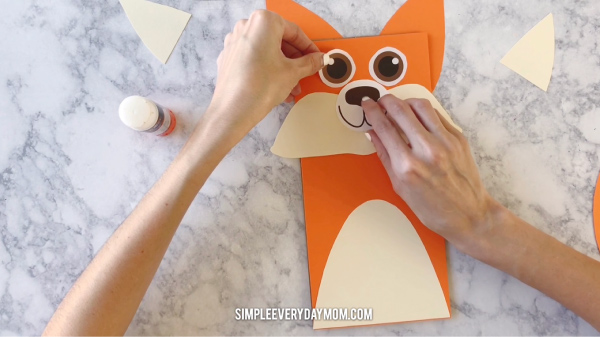 fox brown paper bag puppet