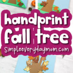handprint fall tree craft image collage with the words handprint fall tree