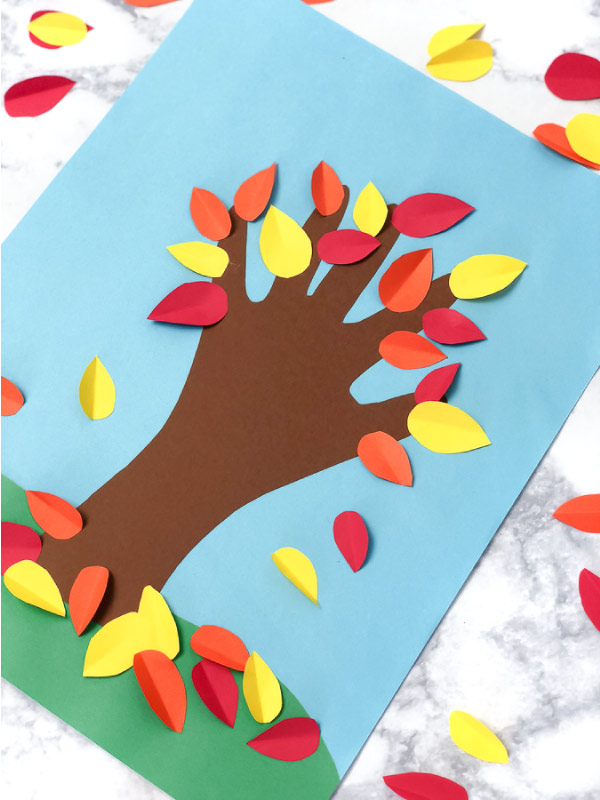 Fall Tree Child Handprint Art