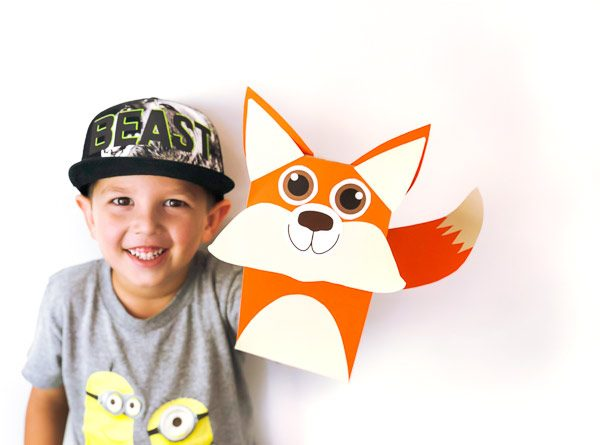 Fox Brown Paper Bag Puppet For Kids #kidscrafts #craftsforkids #kidsactivities #ideasforkids #kindergarten #kids