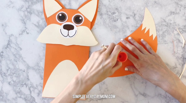 fox paper craft for kids