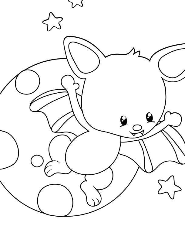 Download These Free Halloween Bat Coloring Pages For Kids
